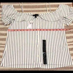 Banana Republic Tops - Banana Republic Blouse Striped White Size Small
